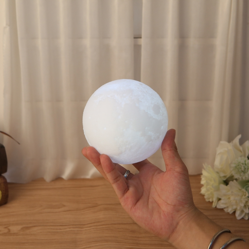 3D Magical Luna Moon Light USB Charging Touch Control LED Lamp