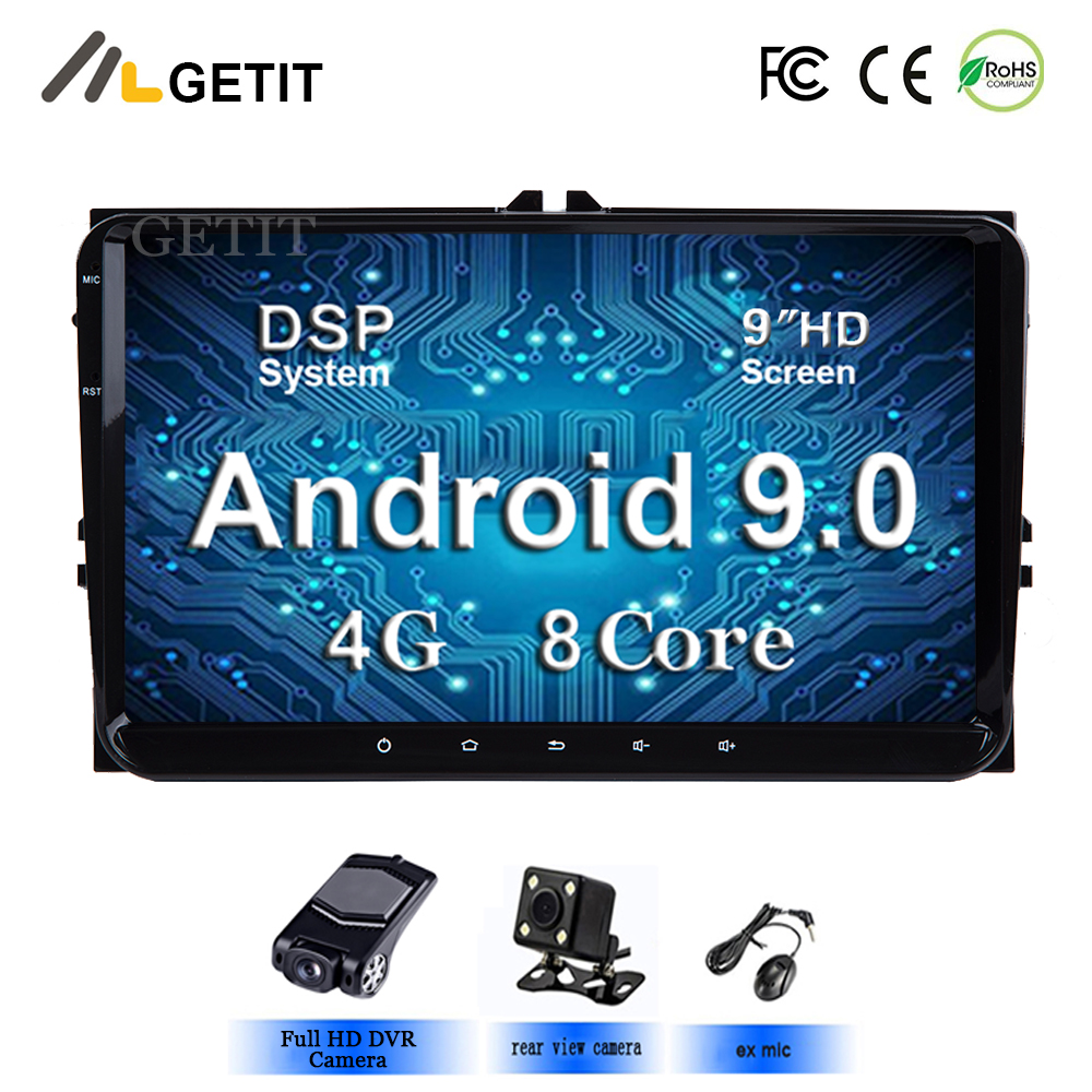 4G Android 9 0 2 DIN Car Multimedia PLAYER for vw Seat Altea Toledo GOLF 5