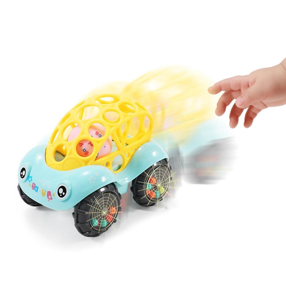 Купить с кэшбэком Baby Plastic Non-toxic Colorful Animals Hand Jingle Shaking Bell Car Rattles Toys Music Handbell for Kids Color Random