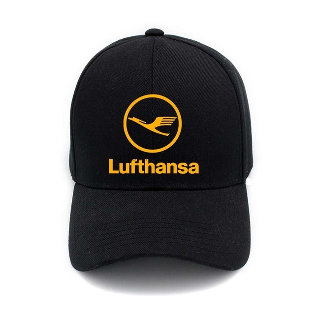 52ab68e6334 Lufthansa Airlines Logo Hip Hop Casual Cap Fashion Adjustable Mens Fitted Baseball  Hats