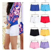 Summer Style 2015 Sexy Women Casual Candy Colour Denim Shorts Lady For Crop Top Summer Hot