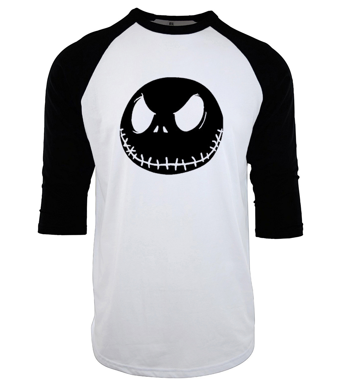 2019 summer hip-hop raglan bodybuilding camiseta Men Jack Skellington three-quarter sleeve T Shirt fitness brand tee shirt homme
