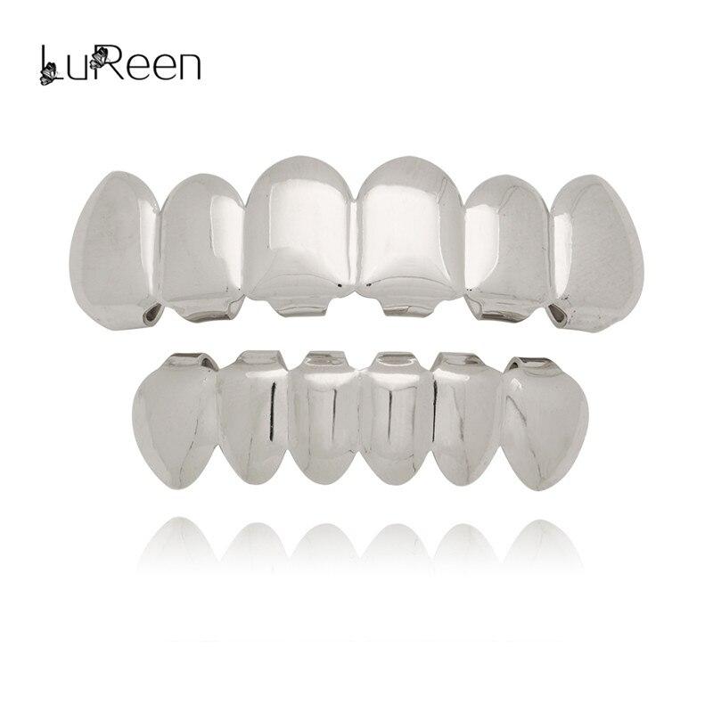 LuReen Hip Hop Gouden Tanden Grillz Top & Bottom Tanden Grills - Mode-sieraden - Foto 3