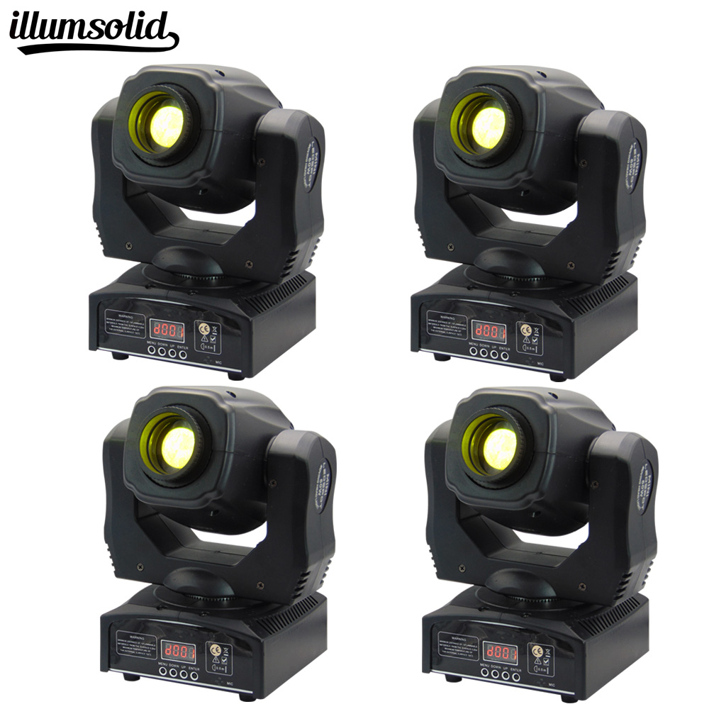 все цены на Stage Lighting Moving Head Light LED Spot Light 60W with 11 Channel for Party Disco DJ Show KTV DMX-512(4 Packs) онлайн
