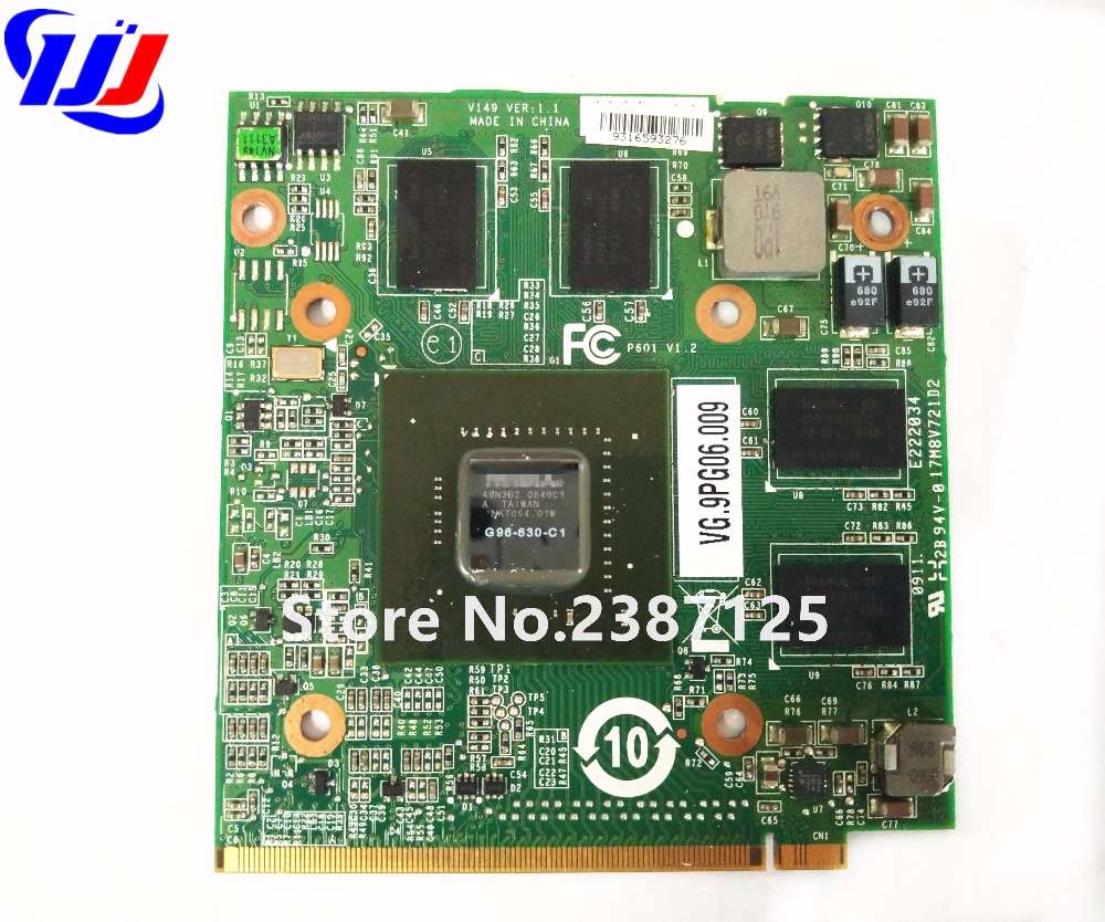 n V i d i a GeForce 9600M GT 1 GB DDR2 G96-630-C1 Graphics Video Card A c e r Aspire 4930G 6920G 6930G 7720G 8730G Laptop
