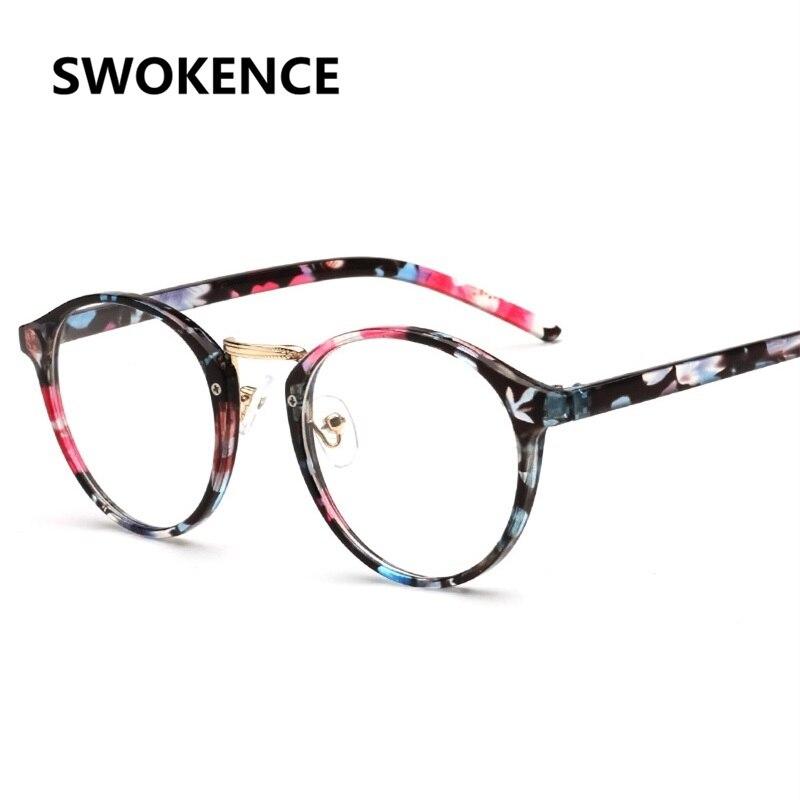 SWOKENCE High Quality Fashion Round Optical Glasses Frame Men Women ...