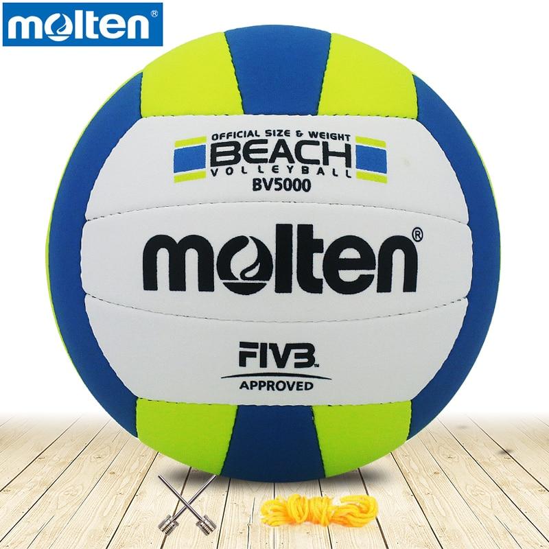 Оригинальный литой волейбол BV5000, литой мяч высокого качества из натурального литого полиуретана, официальный размер 5, волейбол 1