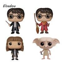 Elsadou Гарри Поттер Гермиона Уизли кнопки Добби винил Фигурки героев детская Игрушечные лошадки куклы