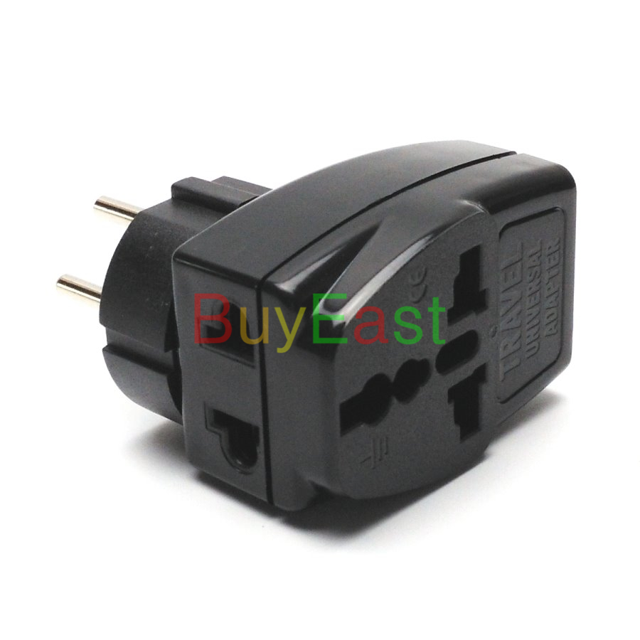 5 x Israeli 3 Way Multi Outlet Electrical Plug Adapter Universal ...