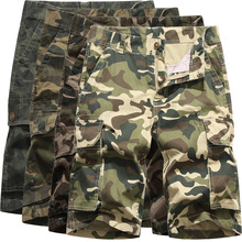 Cargo Shorts Men Camouflage Mens Shorts Casual New Summer Big Pocket Decoration Military Camo Army Tactical Cotton Short Pants