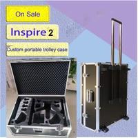 Dji Inspire 2 protective case Pull rod box safety box Drone PRO aluminum case Trolley case custom EVA lining for DJI Inspire 2
