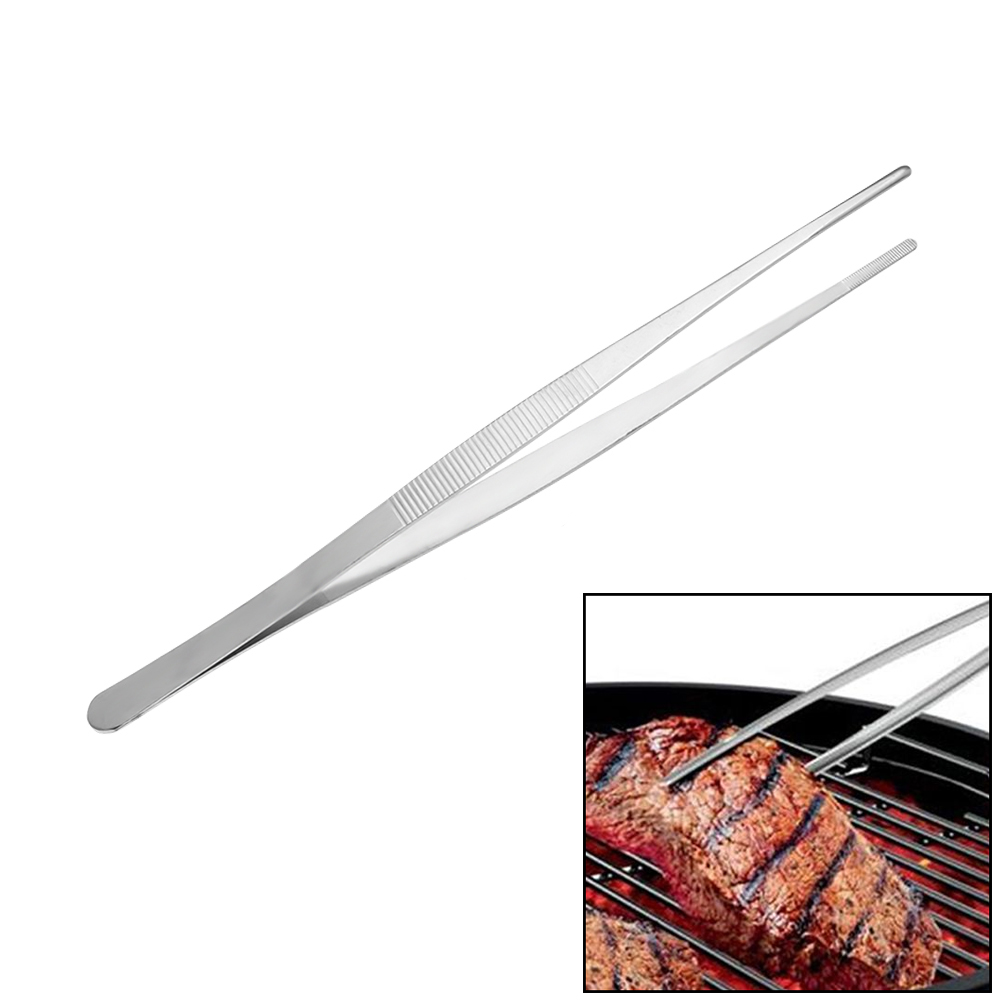 Sincere 1pc Barbecue Tongs Food Clip Kitchen Gadgets High Quality Stainless Steel Tweezers Clip Barbecue Buffet Restaurant Tools In Short Supply Bbq
