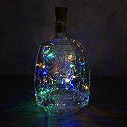 2 м светодиодный медный провод, гирлянда для стеклянной Крафтовая бутылка, новый год/Рождество/День Святого Валентина, свадебные украшения