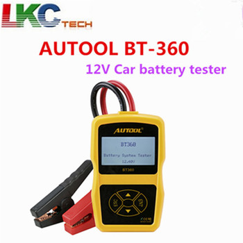 AUTOOL BT-360 12 V Tester Batteria Auto BT360 2000CCA 220AH BT 360 Analizzatore di Batteria Multi-Language Sistema di Ricarica Della Batteria tester