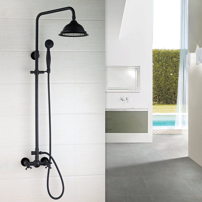 Bathroom ORB Luxury Shower faucet set European style Retro Black Bronze lift shower set black antique drawing copper shower портативный парогенератор laurastar lift plus ultimate black