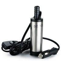 12V Submersible Pump 38mm Water Oil Diesel Fuel Transfer Cigarette Plug L70329