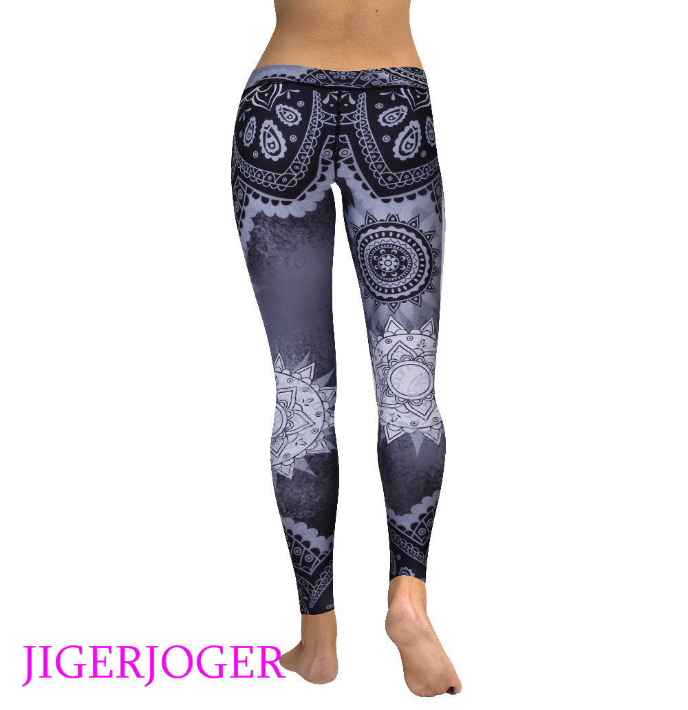 High waist grey mandala legging 3_