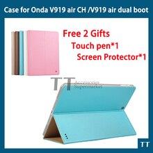 Caso de Cuero de LA PU para el Nuevo ONDA V989 AIRE Octa core/V919 dual AIR boot/v919 V919 AIRE CH 9.7 pulgadas Tablet PC 3g caja de aire de arranque dual