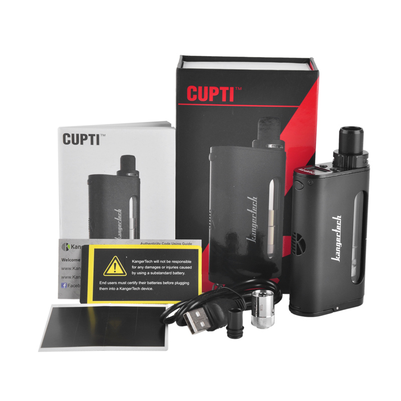 Original Kangertech CUPTI Kit 75W TC AIO Kit with Top Filling Top Airflow 5ml Atomizer SS316L 1.5ohm CLOCC Coil No 18650 Battery палантин ethnica цвет нефритовый фуксия 490300н размер 70 см х 180 см