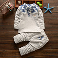 Kids Clothes Cotton Baby boys Clothing Sets Little Floral Long Sleeve 2pcs Baby Boys Clothes Children Clothing