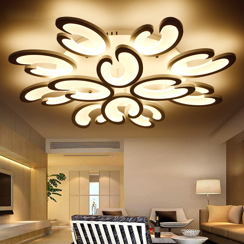Lights & Lighting Beautiful Black/white Finished Chandeliers Led Circle Modern Chandelier Lights For Living Room Acrylic Lampara De Techo Indoor Lighting 2019 Latest Style Online Sale 50%
