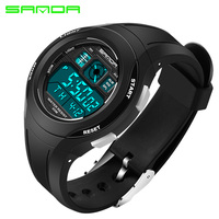 SANDA Sport Students Children Watch Kids Watches Boys Girls For Gift Child Wrist Clock Electronic Hours