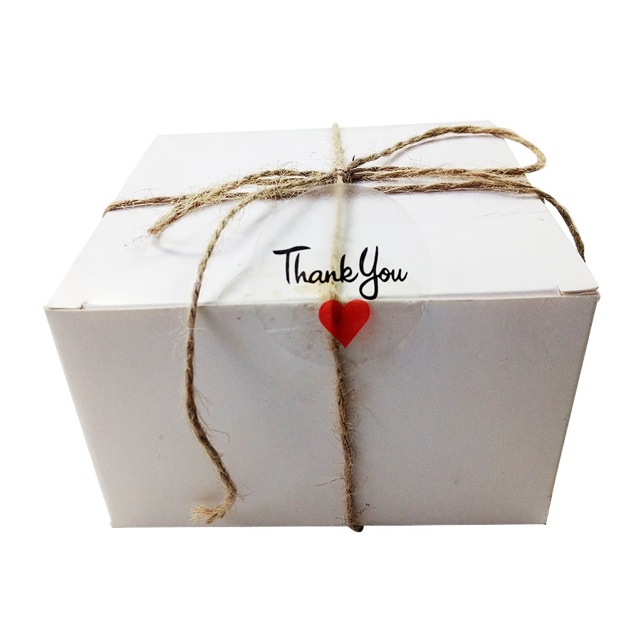 Купить с кэшбэком 100pcs/lot 'Thank You' Red Heart Round Seal Label Sticker PVC Transparent Stickers For DIY Gift Handmade Product Package Label