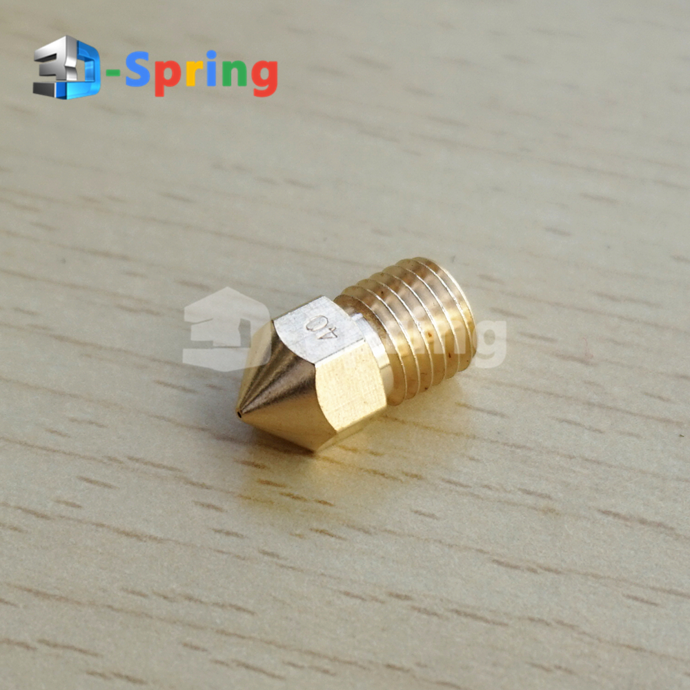 M8 Nozzle 0.4mm M8*1 Thread Length 15.5mm Copper (NOT Brass) For 3D Printer 1.75mm 3mm Print Head