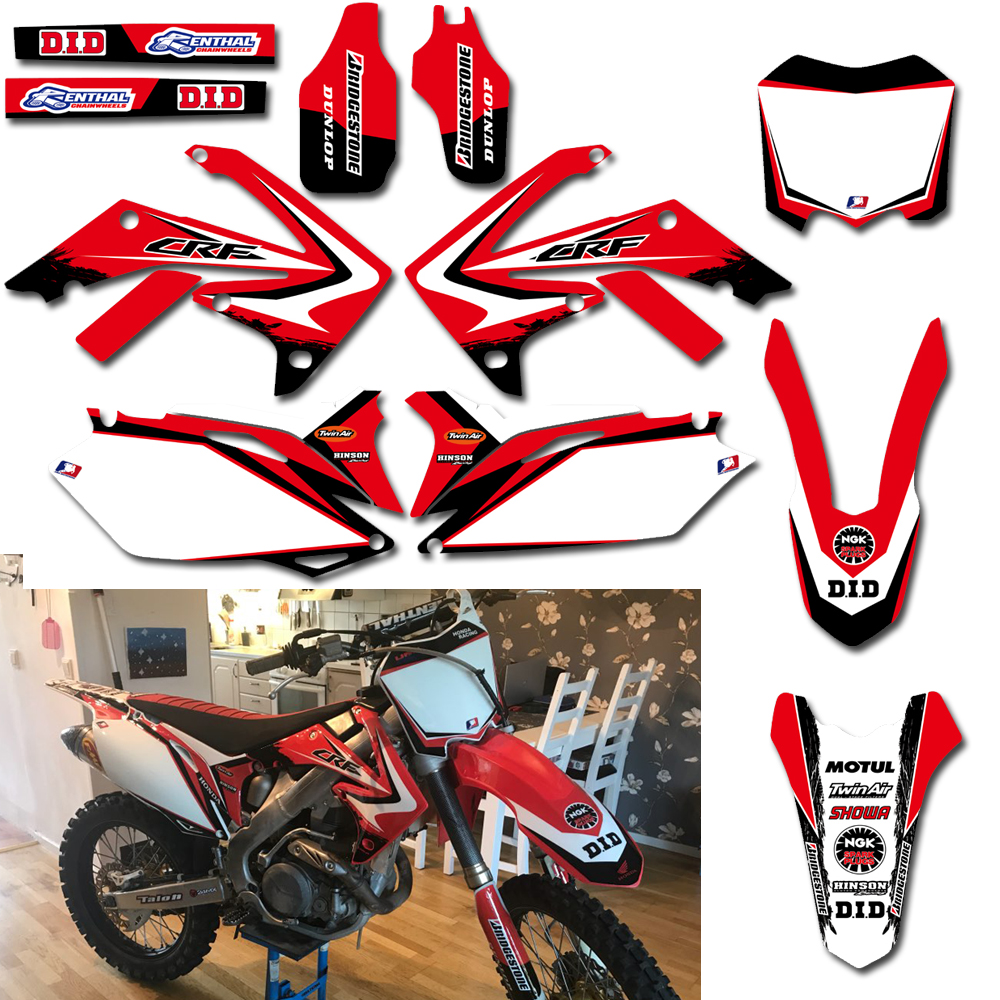 Graphic Background Decals And Stickers For Honda CRF250R <font><b>2010</b></font> 2011 2012 2013 <font><b>CRF450R</b></font> 2009-12 CRF 250 250R 450 450R CRF250 CRF450 image