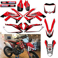 Graphic Background Decals And Stickers For Honda CRF250R 2010 2011 2012 2013 CRF450R 2009 12 CRF 250 250R 450 450R CRF250 CRF450
