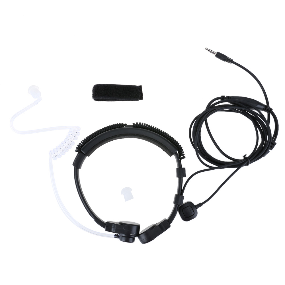 small resolution of 3 5mm wired anti radiation headphone earphone air tube throat headset earbud spiral headset for xiaomi iphone samsung mp3 phone