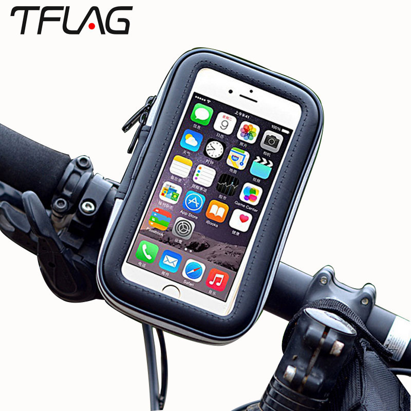 TFlag Mountain Bike Bicycle Cycling Waterproof Touch Screen Mobile Phone Bag For Mobile iPhone 6 7 8 Plus X For Samsung S8