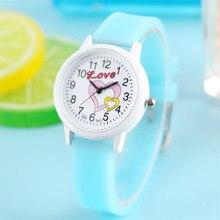 Children Watch Quartz Wristwatch Sugar Color Silicone Watch