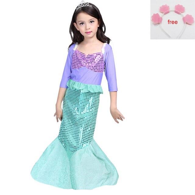 Children Baby Clothes Halloween/Christmas Little Mermaid Fancy Kids ...