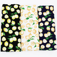 Lemon Printed Cotton Poplin Fabric Patchwork For Sewing Cloth Doll Sheet Dress Skirt Material Children S