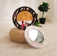 עגול תליון מואר LED עץ ואוהב איפור professiona אורות הלילה פיות קיר מראה סוללה חדר אמבטיה LED ילדה מתנה