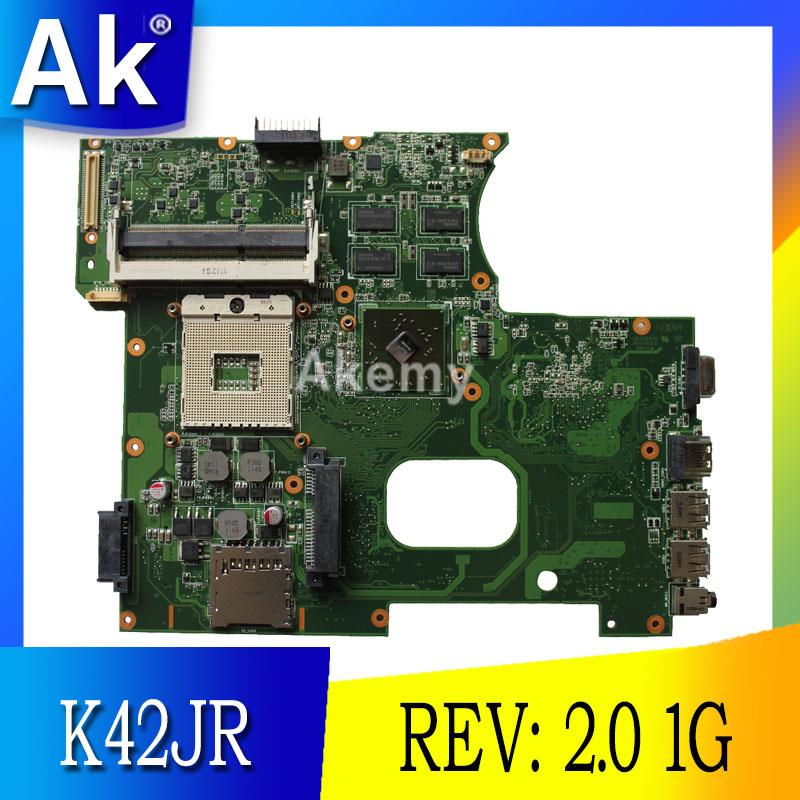 AK For Asus K42JR Laptop motherboard REV: 2.0 HM55 DDR3 For ASUS k42j A40J K42JZ K42JB K42JY Laptop Mainboa 100% tested intactAK For Asus K42JR Laptop motherboard REV: 2.0 HM55 DDR3 For ASUS k42j A40J K42JZ K42JB K42JY Laptop Mainboa 100% tested intact