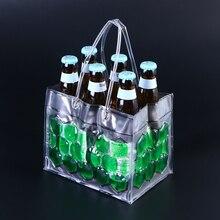 1 шт 6 бутылок 350 мл экологичный ПВХ бутылки вина Холодильный охладитель ледяной сумка 4 стороны могут пива гель Перевозчик охлаждения(зеленый