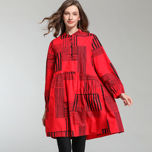 Women Cotton Shirts 2019 For Office Plus Size Long Sleeve and Blouses Lady Red Black Casual Loose Large XL-4XL