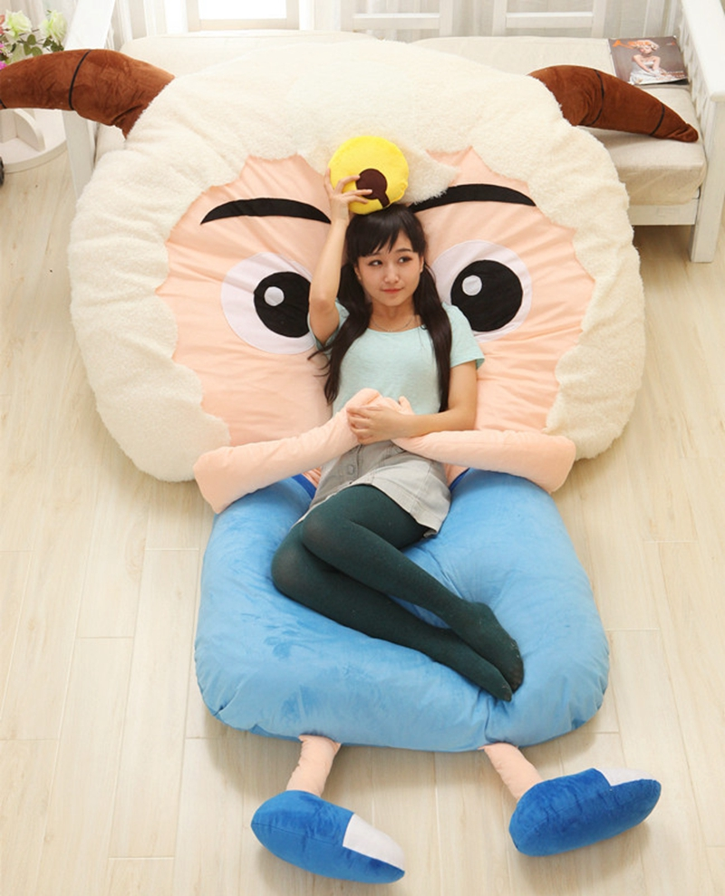 Sensational Us 378 0 Dorimytrader Kawaii Cartoon Sheep Plush Beanbag Anime Character Sleeping Bag Bed Sofa Tatami For Adults And Kid Gift Decoration In Movies Inzonedesignstudio Interior Chair Design Inzonedesignstudiocom