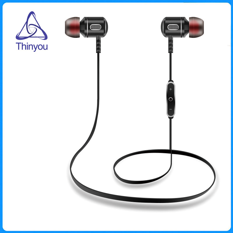 Thinyou Newest Metal Wireless Bluetooth Earphones Super Bass Stereo With HD Microphone in ear Headphones for mobile phone 2016 new metal bluetooth stereo super bass headphones 8600 bluetooth 4 0 high fidelity wireless over ear headset for smart phone