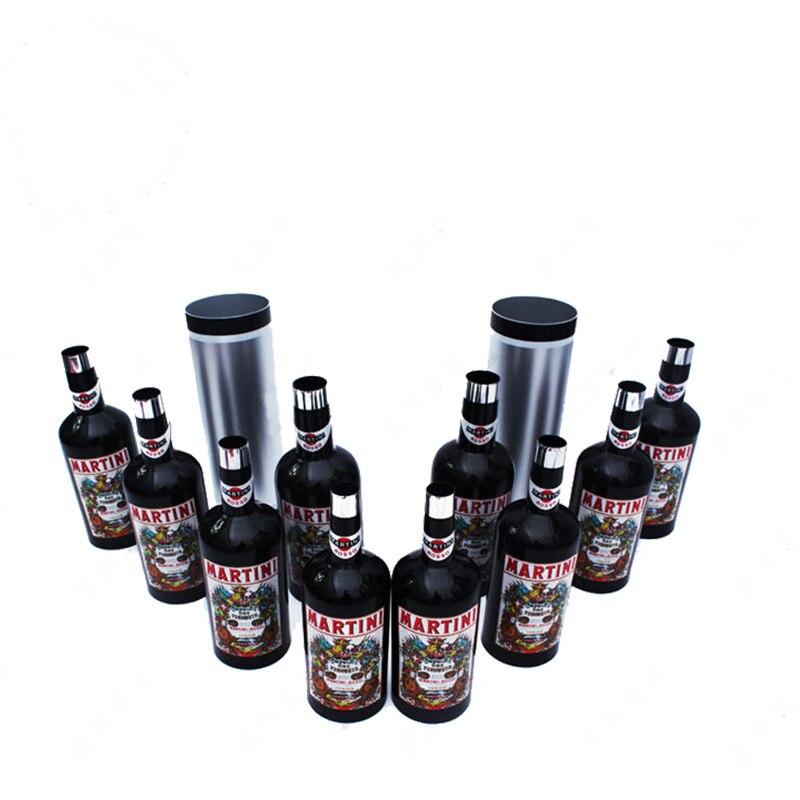 Bouteilles/bouteilles magiques apparaissent de double cylindre noir set tours de magie