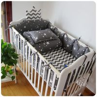 6pcs/set baby bedding set crib bumper baby bed crib protector Crown shape new born bumpers bed rail