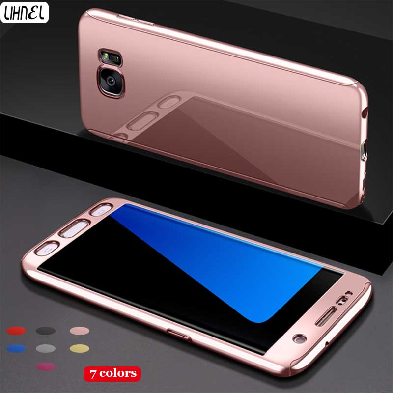 LIHNEL Luxury Mirror Reflection 360 Full Body Coverage PC Hard Shell Cover for Samsung Galaxy S7 S7edge S8 S8plus Note8 Case Bag
