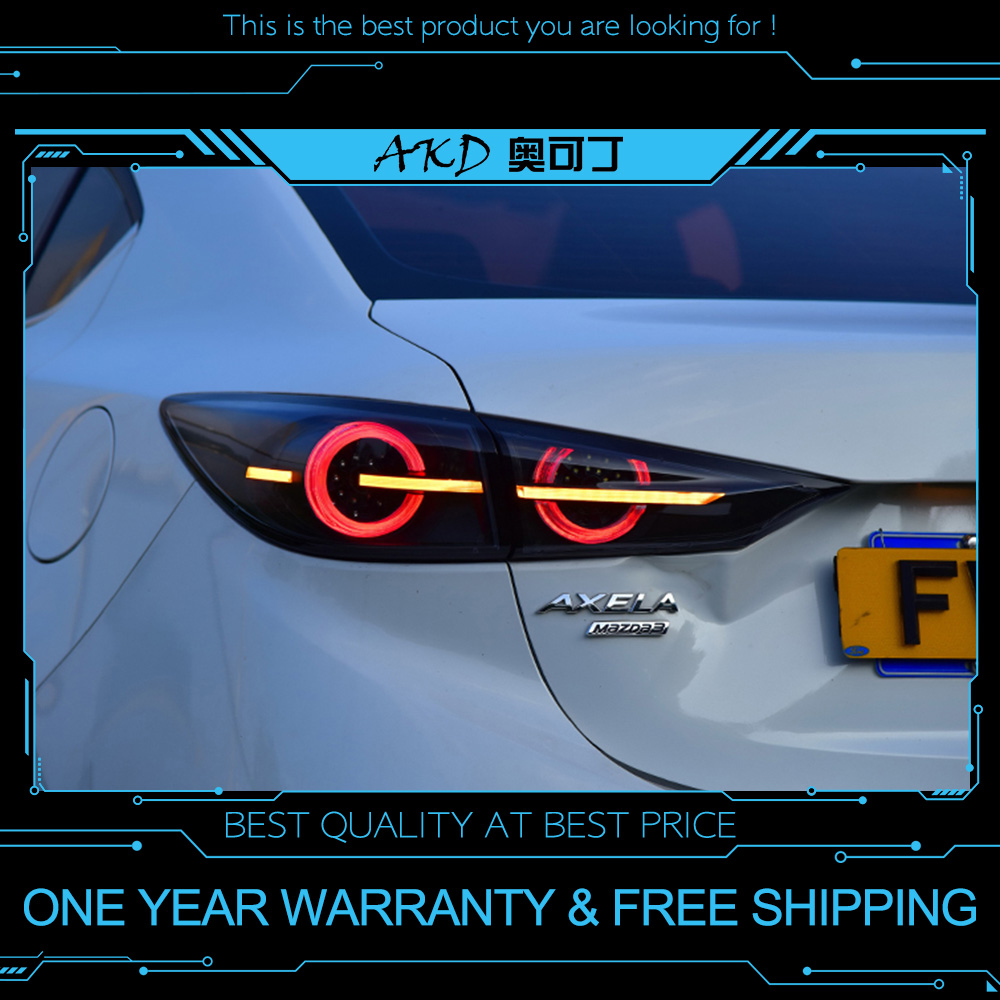 Akd tuning cars tail lights for mazda 3 mazda3 axela 2014 2018 taillights led drl