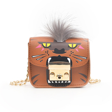 цена на 2019 New Cartoon Monster Lady Shoulder Bag Appearance Innovative Personality Black Brown Two Models Cover Chain Messenger Bag
