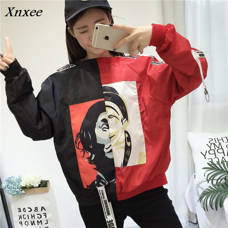 Bomber   Jackets   Women 2018 New Women's   Basic     Jacket   Fashion Windbreaker High Quality Outwear Female Baseball Women Coat Xnxee