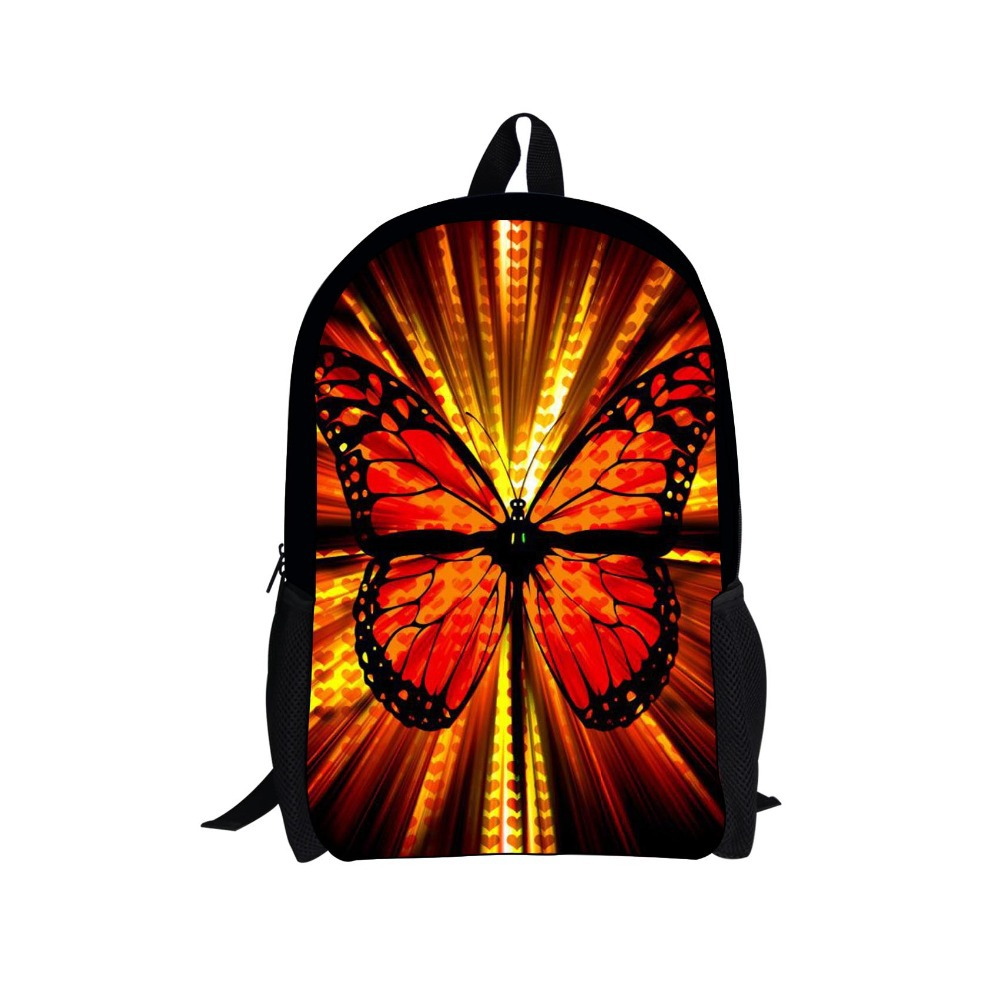 Multicolor Children School Bag Butterfly Printing School Bag for Girls Casual Mochila Kids Schoolbag High Child Book Bags