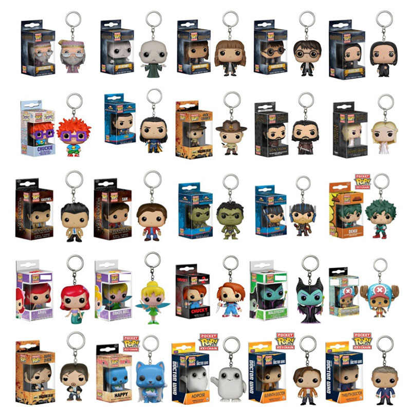 FUNKO POP Hot portachiavi Harri Potter Game of Thrones Walking Dead ARIEL Action Figures Giocattoli per i bambini Regalo Di Natale con box