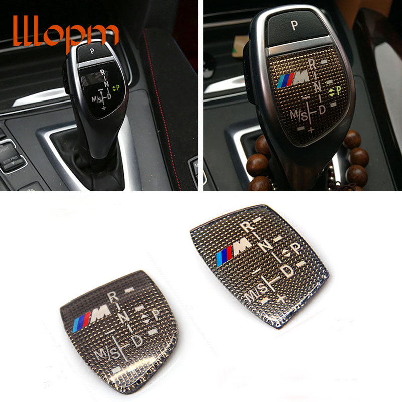 NEW 3D ABS M Motorsport Gear Shift Knob Sticker Cover For BMW X1 X3 X5 X6 M3 M5 325i 328 F30 F35 F18 F20 F21 GT 3 5 6 7 Series